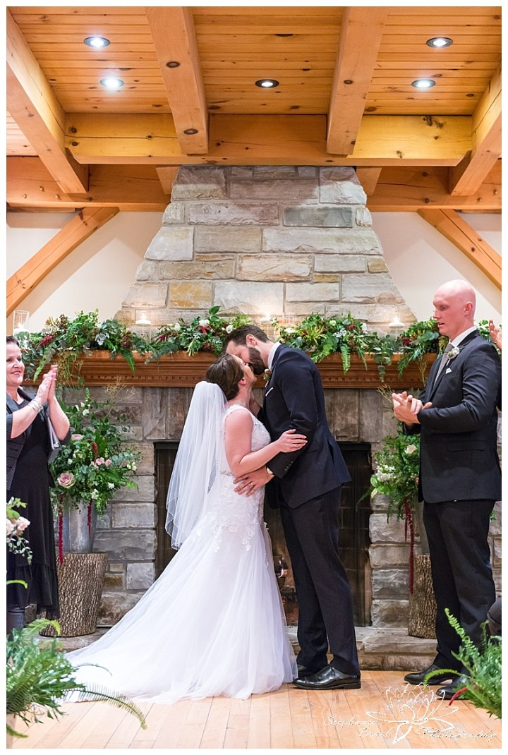 temples-sugar-bush-wedding-stephanie-beach-photography-ceremony-kiss