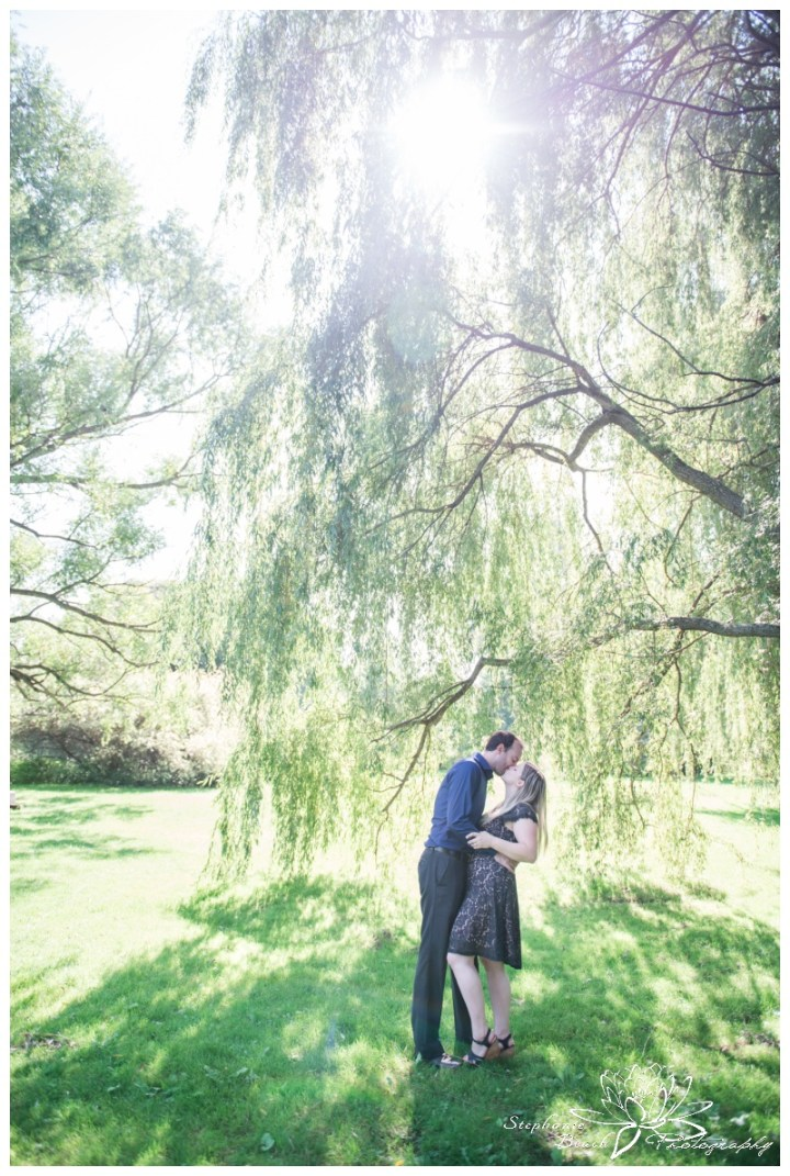 Arboretum-Engagement-Session-Stephanie-Beach-Photography-willow-tree-sunflare