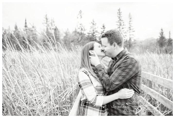 Jack-Pine-Trail-Engagement-Session-Stephanie-Beach-Photography-swamp-boardwalk-bridge