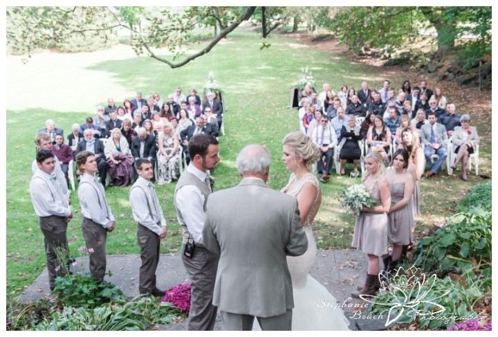 Stanleys-Olde-Maple-Lane-Farm-Wedding-Stephanie-Beach-Photography-ceremony-stone-steps-guests