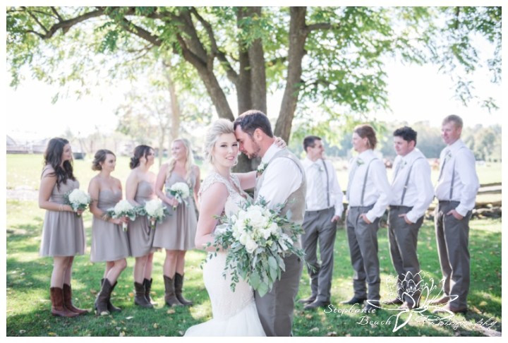 Stanleys-Olde-Maple-Lane-Farm-Wedding-Stephanie-Beach-Photography-bride-bridesmaids-groom-groomsmen