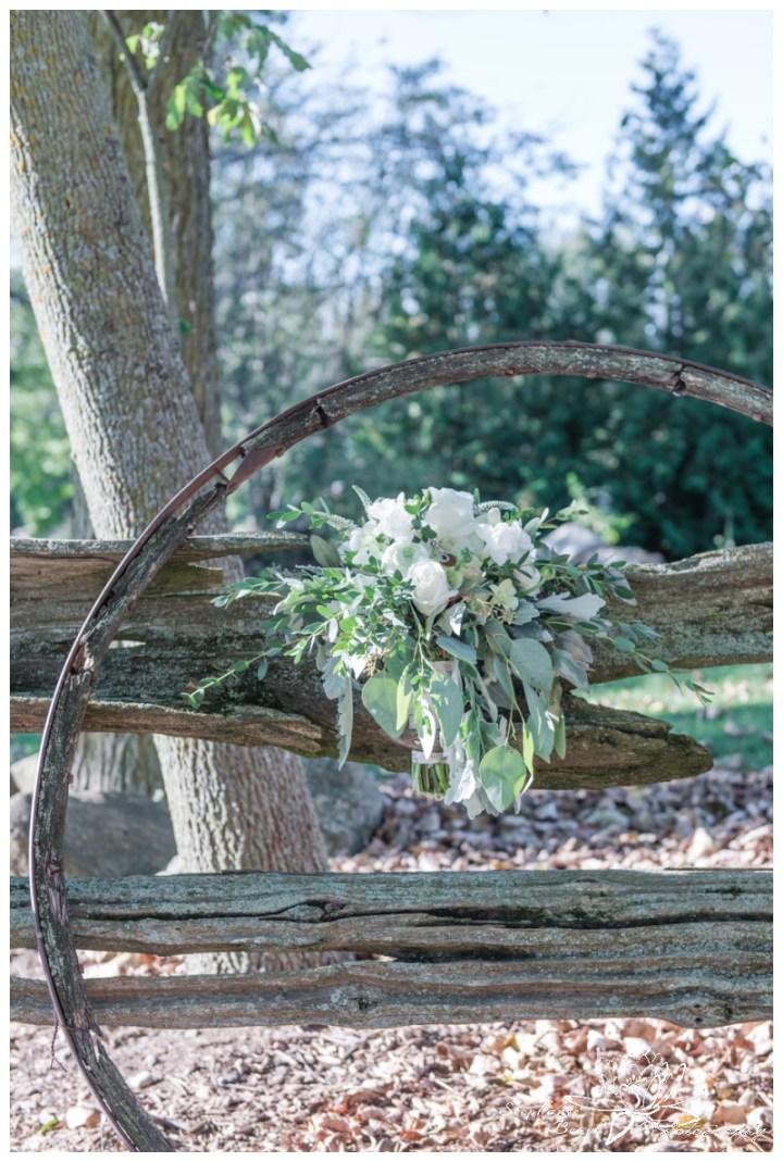 Stanleys-Olde-Maple-Lane-Farm-Wedding-Stephanie-Beach-Photography-fence-bouquet