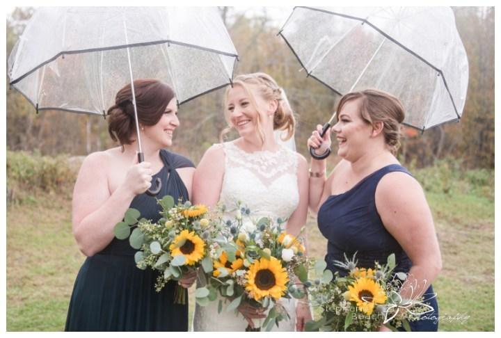 Ottawa-Fall-Backyard-Wedding-Stephanie-Beach-Photography-umbrella-sunflower-bouquet-bridesmaids