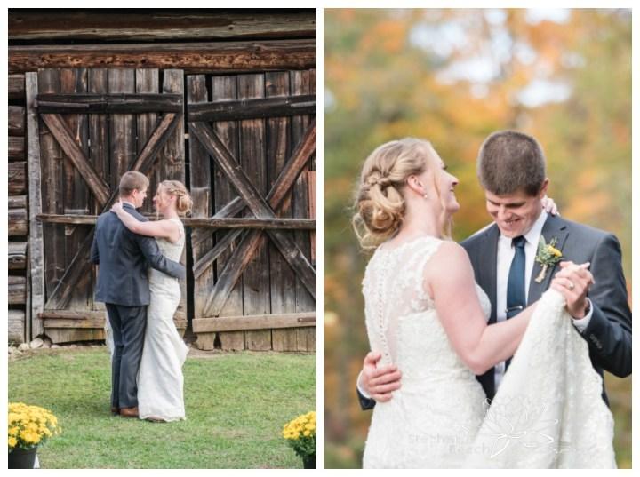 Ottawa-Fall-Backyard-Wedding-Stephanie-Beach-Photography-first-dance-outdoors