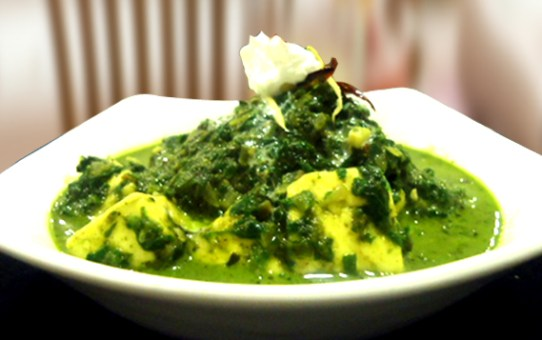 Paneer mellowed with palak