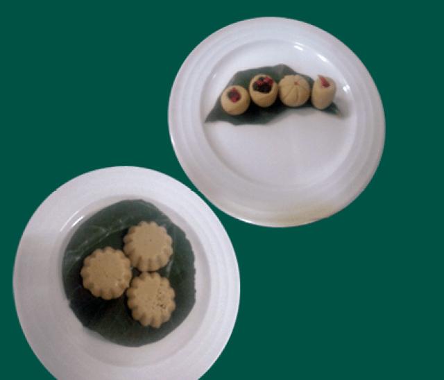 Stuffed Sandesh Dessert Recipe
