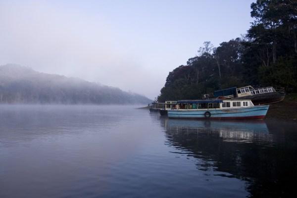 periyar lake boat ride Thekkady kerala Image