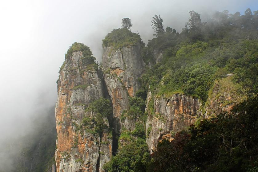 Pillar Rocks in Kodaikanal Monsoon