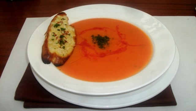 Water Melon & Pumpkin Soup vegetarian recipe