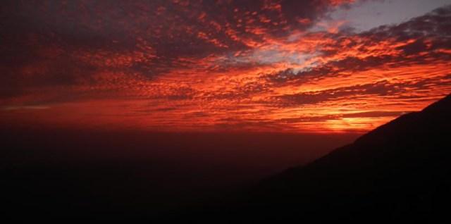 Sunset from Sunset Point Munnar