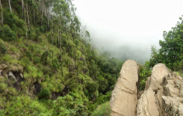 When the mist vanishes - view of the Dolphin's Nose