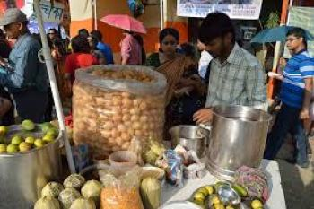 Pani puri by the street
