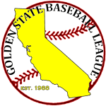 Logo for the Golden State Baseball League
