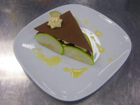 Vanilleschnitte mit Apfel