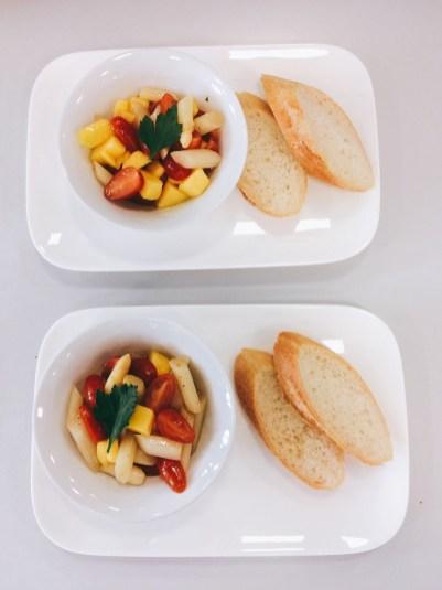 Spargelsalat mit Mango