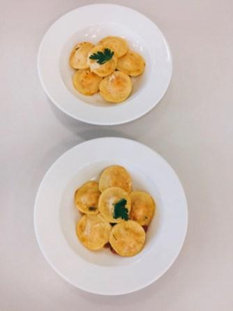 Ravioli mit Süßkartoffelfüllung