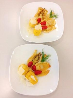 Maisbällchen mit Fenchel