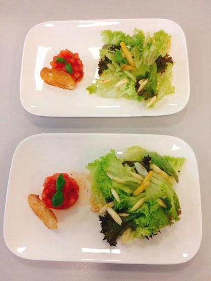 Salat mit Spargel und Tomatentatar