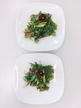 Kräutersalat mit grünem Spargel