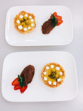 Orangentarte mit Schokoladenmousse