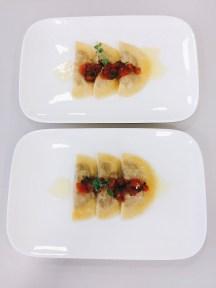 Ravioli mit geschmolzenen Tomaten