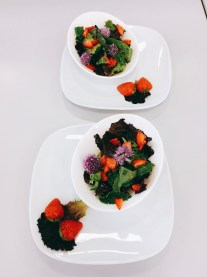 Pflücksalat mit Erdbeeren