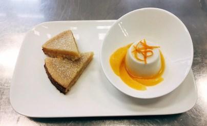 Zitronenschnitten mit Kokos-Orangen-Panna cotta