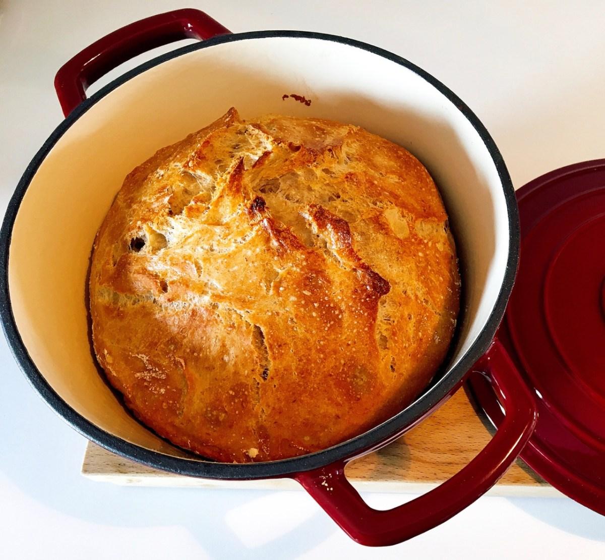 Brot backen im Gusstopf - Versuchsreihe