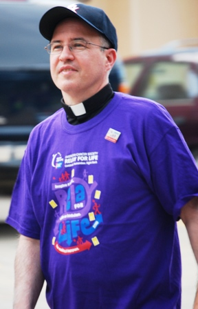 Fr. Steve walking at the Relay for Life