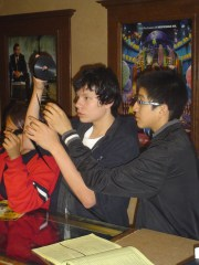 The older Lakota (Sioux) kids were fascinated while learning about movie theaters.