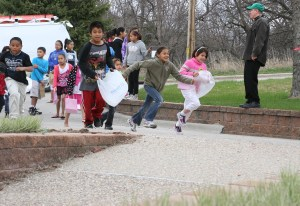 Our American Indian youngsters had such a blast at our annual Easter Egg Hunt!