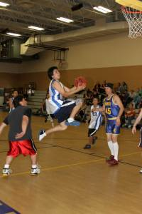 "St. Joseph's Indian School had a ""staff vs 8th graders"" basketball game!"