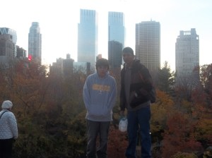 Quick stop in Central Park for several pictures!