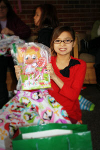 Girls in the Dennis Home received dolls for Christmas.