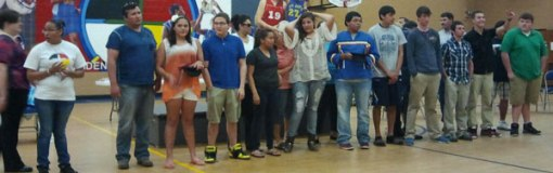 Chamberlain High School hosted a feathering ceremony for Native American graduates at St. Joseph's Indian school.