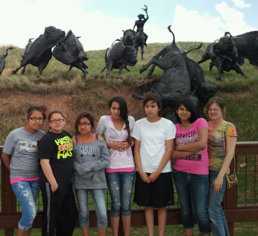 One of the stops on the cultural trip was to learn about the buffalo or tatanka.