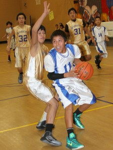 St. Joseph's Native American students play basketball and say NO to drugs!
