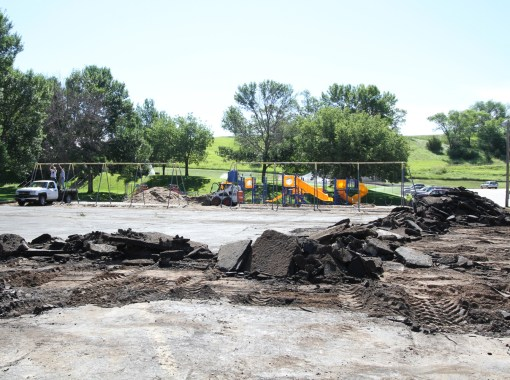 The Lakota children will have a new playground in time for the start of the new school year at St. Joseph's.