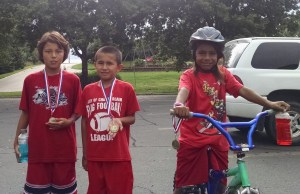 The Lakota children competed in a youth triathlon and did great!