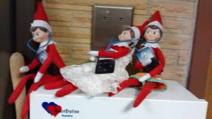 St. Joseph's students enjoyed Elf on the Shelf with a twist in December.