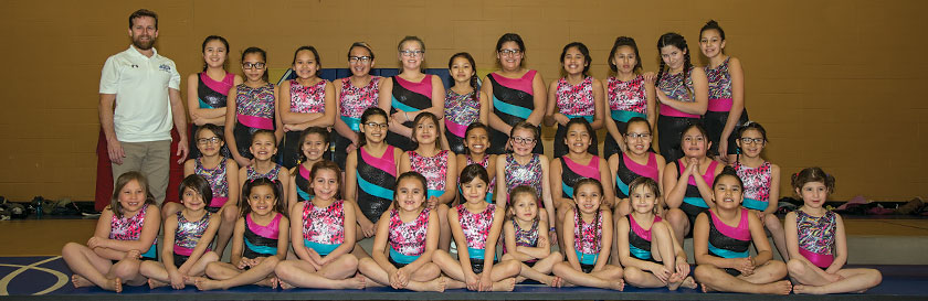 In gymnastics, the girls gain confidence, strength and flexibility.