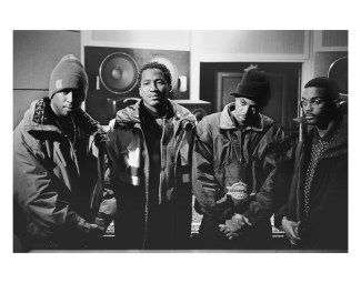 Photo: DJ Premier, Q-Tip, Nas, Large Professor