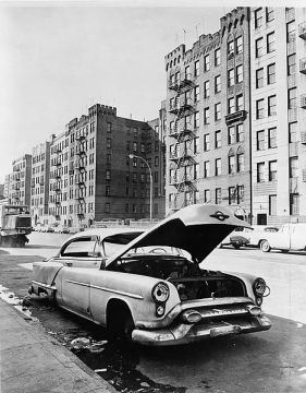 Photograph of Macombs Road in Morris Heights, the Bronx, circa 1964
