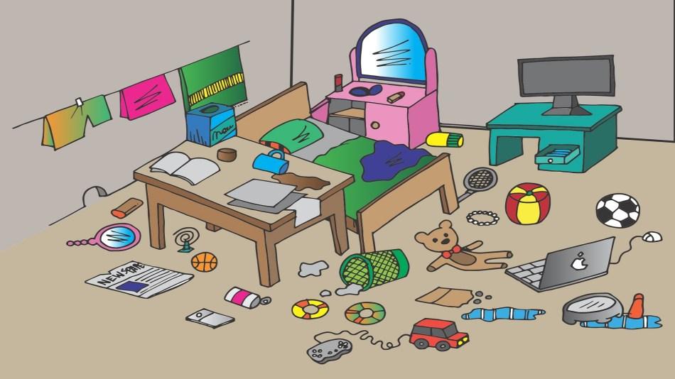 凌亂的小孩房間- 小孩對執拾物品沒有概念