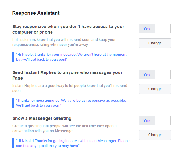 Facebook Response Assistant