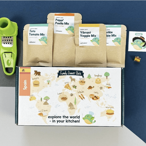 winning subscription box packaging design is from Eat2Explore