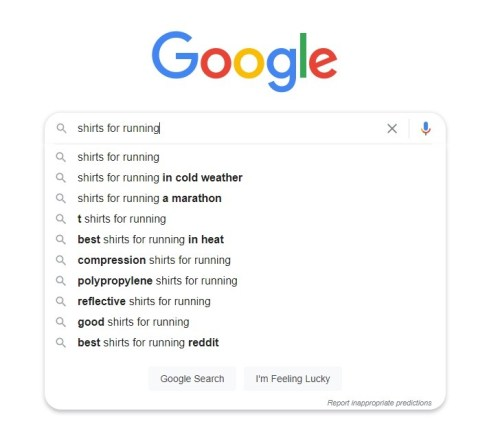 using google suggest function for keyword research