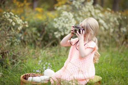 child using camera