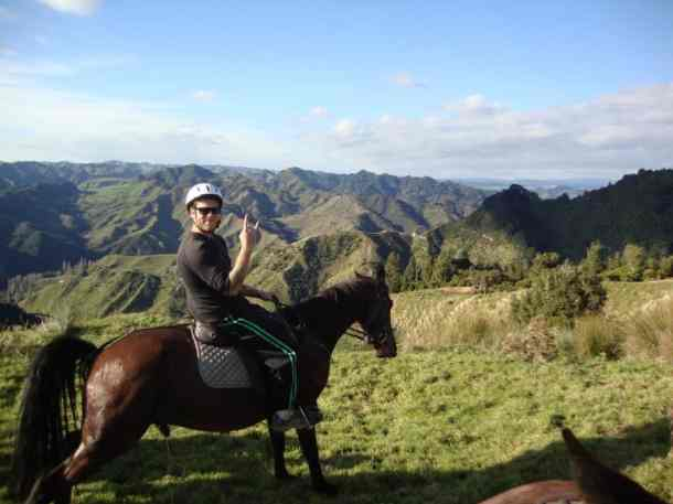 Photo by Claire Hearnden. Horse riding in Whakahoro