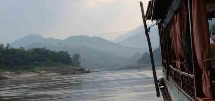 Slow boat in Laos